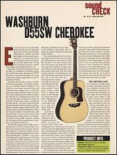 The Washburn D55SW Cherokee acoustic guitar 8 x 11 sound check gear box review