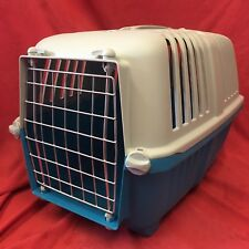 """Plastic Carrier Box 18 x 12"""" Small Dogs Puppies Home Vets Transport Carrying"""