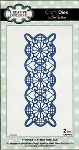 Creative Expressions - Dies (2) - Striplet - Lattice & Lace - CED1610
