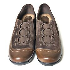 Earth Origins Dover Brown Leather & Suede Slip on Women's Shoes Size 8M EUC