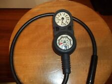 Aqualung Depth and Psi Gauge, and Compass for Scuba Diving