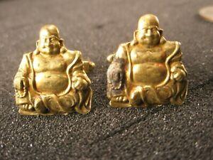 -Golden Buddha Vintage EFFR Cuff Links some tarnish see pics