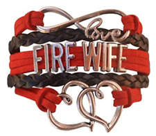 Firefighters Wife Jewelry - Fire Wife Bracelet - Perfect Fire Wife Gift