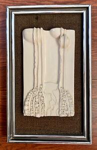 """1975 Sonja Mortimer """"Vested Images"""" Canadian / Danish Ceramic Relief Sculpture"""