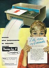 D- Publicité Advertising 1959 La machine Thermo Fax Secretary