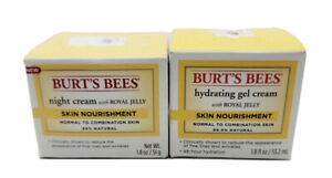 2 Pack Burts Bees Night Cream With Royal Jelly Skin Nourishment, 1.8 oz ea NEW
