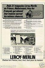 Publicité advertising 1978 Magasins Bricolage outillage Leroy-Merlin