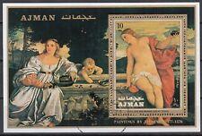 Ajman Block 277A gestempelt, Gemälde von Tizian