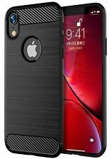 For iPhone XR Carbon Gel Case Cover Glass Screen Protector & Stylus Pen