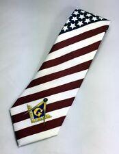 Masonic American Flag Necktie