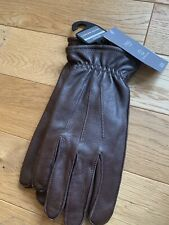 BNWT _ Marks Spencer Mens Brown Leather Gloves ~  size S Small