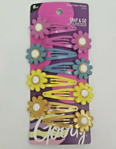 Goody Snap & Go Styling Clips flowers. 8ct