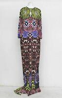 JUST CAVALLI Ladies Multicoloured Kaleidoscopic Print Maxi Trail Dress UK12