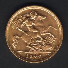 Australia.  1906 Sydney - Half Sovereign.. Full Lustre..  aU/UNC