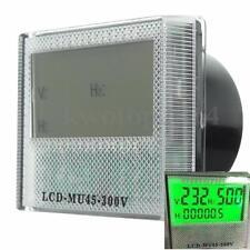 AC 80-300V 3in1 LCD Generator Digital Hour Frequency Voltage LED Meter Gauge