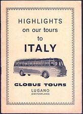 HIGHLIGHTS ON OUR GLOBUS COACH TOUR TO ITALY. 30-Page Softback. Free UK Post