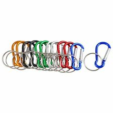 Assorted Color Aluminum Carabiner Key Ring Keychain Holder 12 Pcs ED