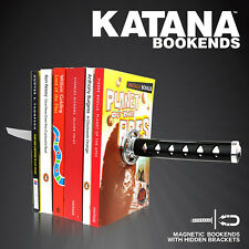 Funky Cool Ninja Katana Metal Magnetics Bookends with Hidden Brackets - Boxed