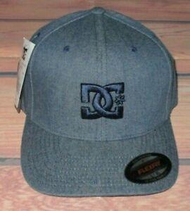 MENS DC SHOES FLEXFIT FITTED HAT BLUE CAP SIZE L/XL