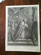 Carlo Borromeo G. Edelinck Acquaforte originale '600