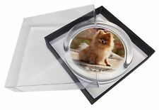 Pomeranian Dog 'Love You Mum' Glass Paperweight in Gift Box Christ, AD-PO89lymPW