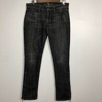 7 for All Mankind Women's Size 29 Slim Zipper Front Pockets And Ankles