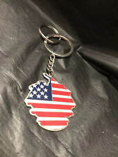 Donald Trump Family Crest Coat of Arms Fancy Key Chain MAGA Flag Official