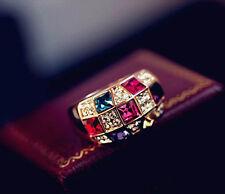 Size7 Women Stunning Rhinestone Crystal Finger Dazzling Ring Jewelry Hot Gift