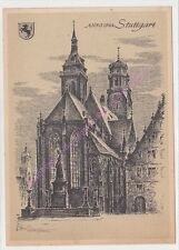 CP ART TABLEAU LUDWIG SCHAFER GROHE Stuttgart ANNO 1944  n57