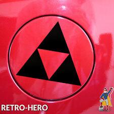 Zelda Aufkleber Vinyl Dreieck Nintendo Sticker Triforce Logo Schwarz 15x13 cm