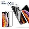 Für Apple iPhone X XS Case Ultra Slim Hülle 6D Schutzglas Silikon Case Klar