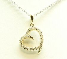 14K Yellow Gold & .25 CTW Diamond Heart Shape Pendant without Chain 1.1 Grams