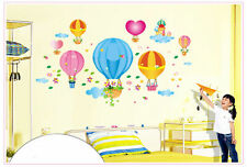 Hot Air Balloon Removable, Waterproof, Eco-friendly Wall Decal, Kids, Nursery