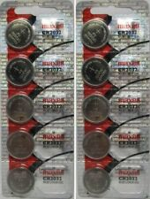 Maxell CR2032 Lithium Battery 10 Pack Lot Batteries NEW Fresh