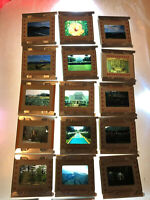 Lot Vintage 1958 Projector Slides of Hawaii World Trip Vacation Color History