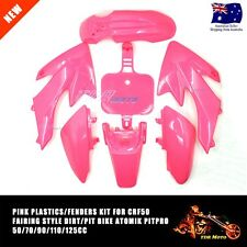 Pink Plastic Fairing Cover CRF 50cc 70cc 90cc Kids Dirt Bike Pit Pro Trail Dune