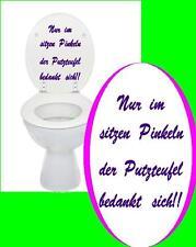 Nur im Sitzen Toiletten deckel Spruch Toilette Klo WC  Bad aufkleber Sticker