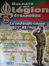 FASCICULE 16 LEGION ETRANGERE LIEUTENANT COLONEL DU 1er RE 1960