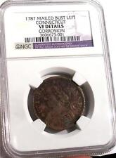 1787 MAILED BUST LEFT CONNECTICUT VF