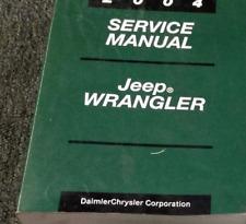 2004 JEEP WRANGLER Service Shop Repair Workshop Manual New