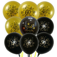 "10PCS Anniversary Number Ages Balloons 30 40 50 60th Birthday Party Decor 12"" A"