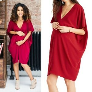 NWOT Hatch The Slouch Oversized Maternity Dress Scarlet Red One Size
