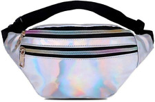Fanny Pack Holographic Waist Bag Shiny Belt Bag Festival Rave Bumbags for Ladies