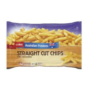 Coles Frozen Straight Cut Potato Chips 1kg