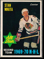1970-71 O-Pee-Chee #240 Stan Mikita AS1 Chicago Blackhawks Goalie, mint or gem