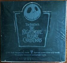 NECA Nightmare Before Christmas 35mm Film Clip Cards Autograph Cards Sealed Rare