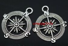 20pcs Tibet Silver compass Jewelry Finding Charm Pendant 30x25mm(lead free)