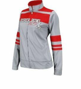 Reebok NFL Football Women's Super Bowl XLVI Track Jacket - Grey & Red
