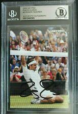 Roger Federer Tennis Pro Signed 2003 NetPro #3 Autographed ROOKIE CARD BAS