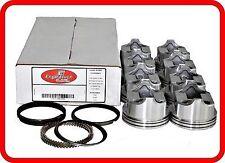 67-95 Chevrolet/GMC SBC 350 5.7L OHV V8  (8)Dish-Top Pistons & Moly Rings